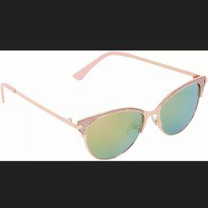 Betsey Johnson Sunglasses Pink Rose Gold
